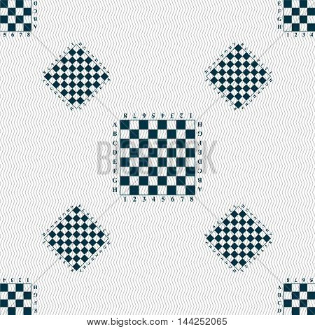 Modern Chess Board Sign. Seamless Pattern With Geometric Texture. Vector