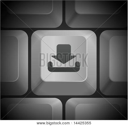 Download Icon on Computer Keyboard Original Illustration