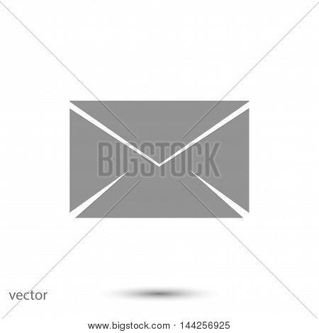 black envelope icon, vector best flat icon, EPS