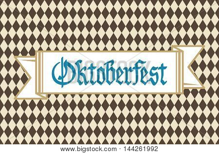 Oktoberfest Background With Banner And Text Oktoberfest Vector