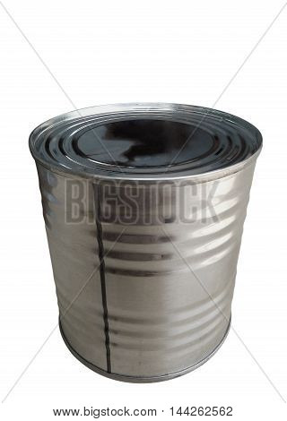 Closed tin cans isolated on a white background. Clipping path included.