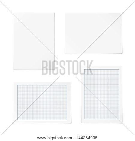 Vector Portrait And Landscape Orientation Paper Templates