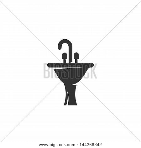 Washbasin icon isolated on white background
