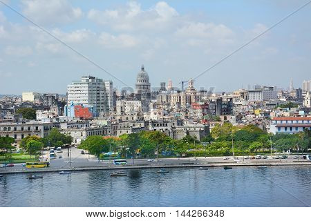 Havana Overview From The Water