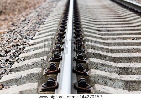 a close view to empty Railway track