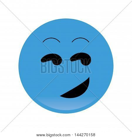flat design flirting emoticon icon vector illustration