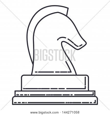 horse chess isolated icon vector illustration design