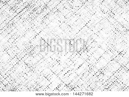 Distressed overlay texture of weaving fabric. grunge background. abstract halftone vector illustration