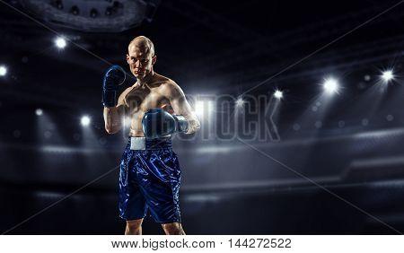 Professional box champion . Mixed media