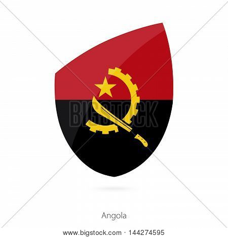 Flag Of Angola In The Style Of Rugby Icon.