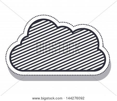 cloud single isolated icon vector illustration design