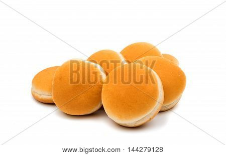 buns sandwich fast  food on a white background