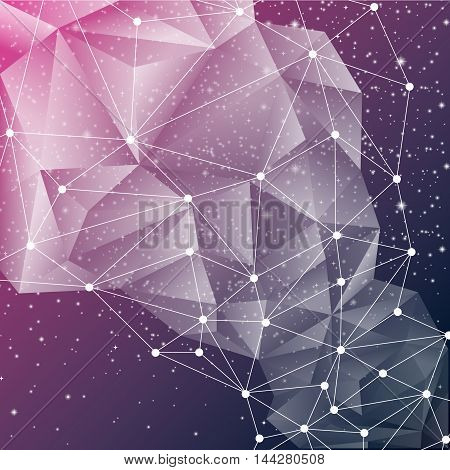 Abstract geometric starry background full vector elements