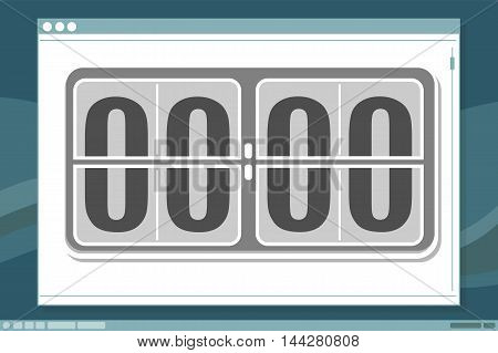 A vector illustration of Schedule clock design with frame on screen