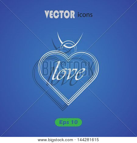 Pendant - Valentine's Day vector icon for web and mobile