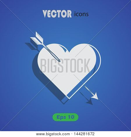 Heart with arrow - Valentine's Day vector icon