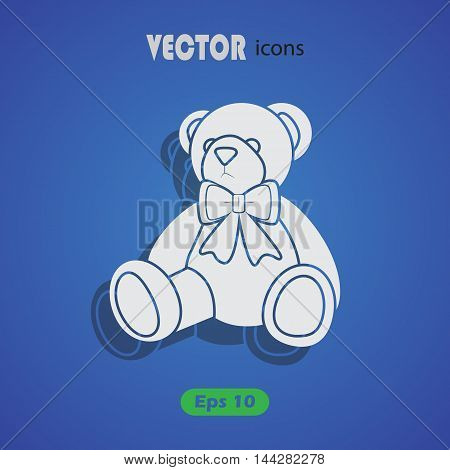 Little teddy bear Vector icon for web and mobile