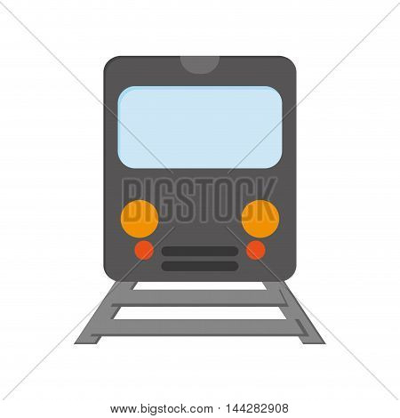 flat design train frontview icon vector illustration