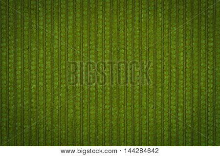 Green leather texture closeup useful as background
