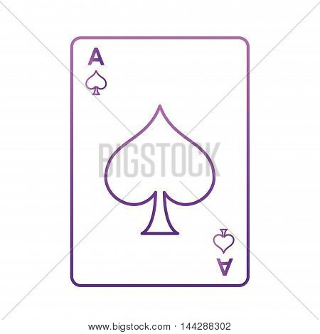 flat design spade card icon vector illustration
