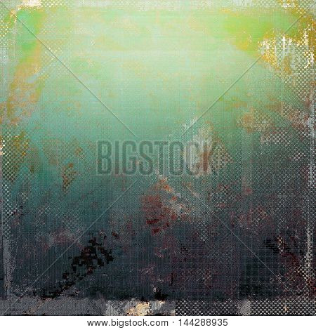 Art grungy texture, aged background with retro feeling. With different color patterns: gray; green; blue; yellow (beige); brown; cyan