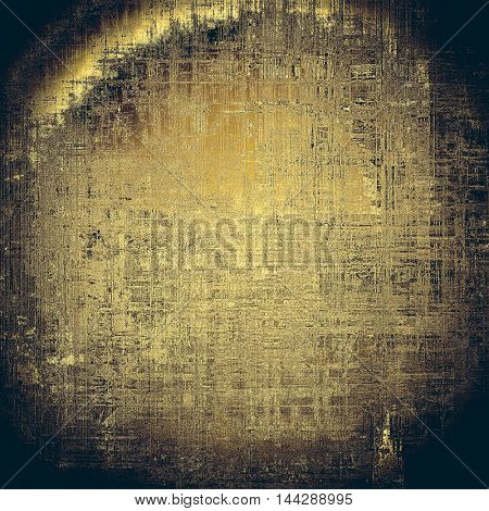 Spherical aged vintage background with weathered texture, grunge design elements and different color patterns: gray; yellow (beige); brown; black