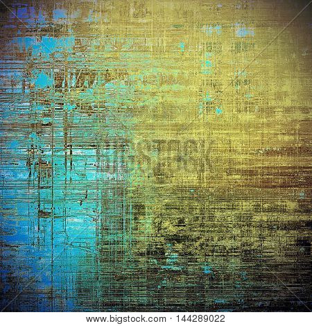 Vintage decorative texture with grunge design elements and different color patterns: gray; blue; yellow (beige); brown; cyan