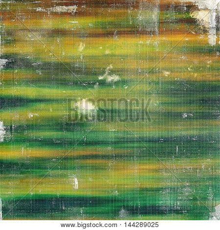 Vintage texture or antique background with grunge decorative elements and different color patterns: green; blue; red (orange); yellow (beige); brown; cyan