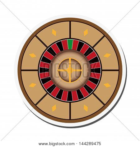 flat design casino roulette icon vector illustration