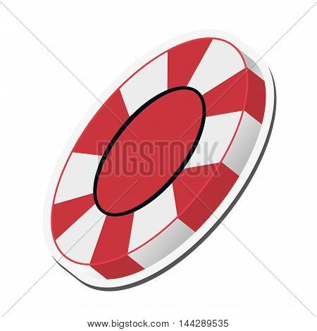 flat design casino chip icon vector illustration