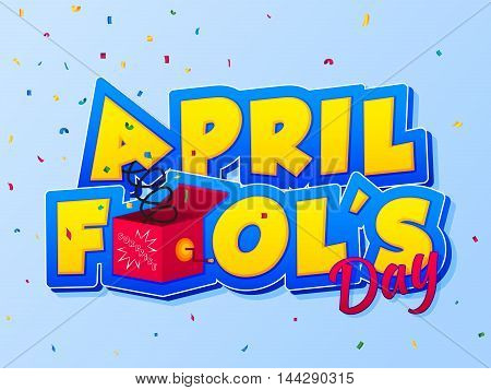 April Fools Day lettering. Vector illustration for greeting card ad promotion poster flier blog article marketing signage email. Happy Fool's Day/ EPS 10