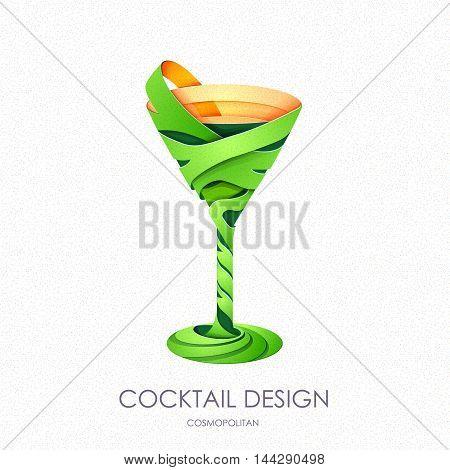 3D Cocktail Design.vector Icon