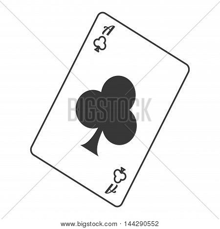 flat design club card icon vector illustration