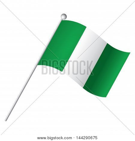 Isolated Nigerian flag Vector illustration, eps 10