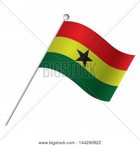 Isolated flag of Ghana Vector illustration, eps 10
