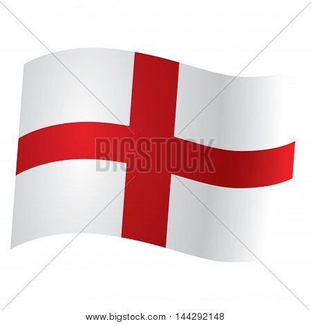 Isolated flag of England Vector illustration, eps 10