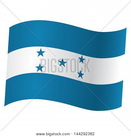 Isolated flag of Honduras Vector illustration, eps 10