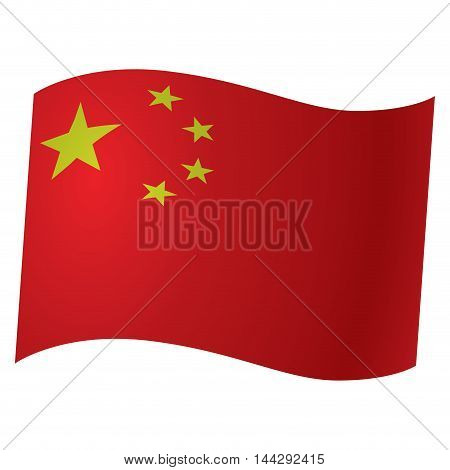 Isolated Chinese flag Vector illustration, eps 10
