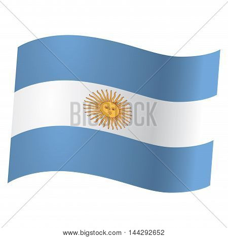 Isolated flag of Argentina Vector illustration, eps 10