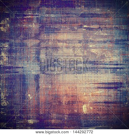 Abstract retro design composition. Stylish grunge background or texture with different color patterns: gray; blue; red (orange); purple (violet); brown; black