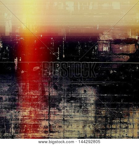 Grunge background for a creative vintage style poster. With different color patterns: red (orange); purple (violet); yellow (beige); brown; black; pink