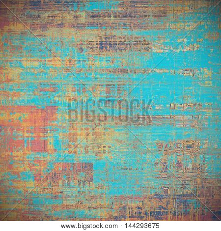 Grunge texture, decorative vintage background. With different color patterns: blue; red (orange); yellow (beige); brown; pink