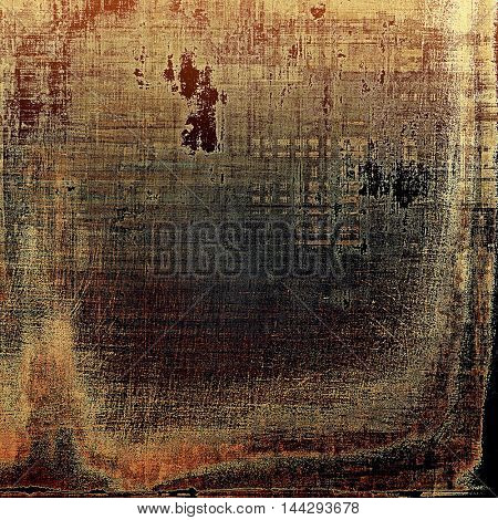 Distressed grunge texture, damaged vintage background with different color patterns: gray; red (orange); yellow (beige); brown; black