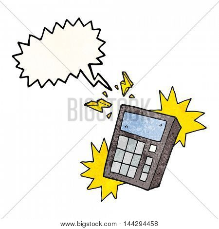 freehand speech bubble textured cartoon calculator