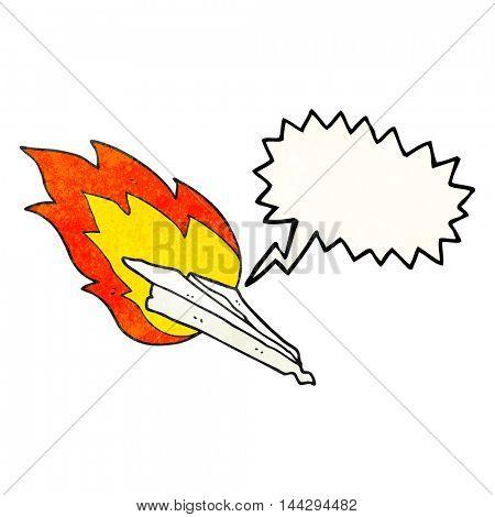 freehand drawn texture speech bubble cartoon paper plane crashing