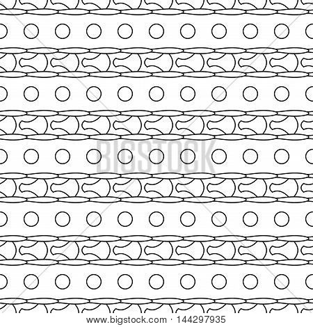 Circle seamless pattern. Fashion graphic background design. Modern stylish abstract texture. Monochrome template for prints textiles wrapping wallpaper website. VECTOR illustration