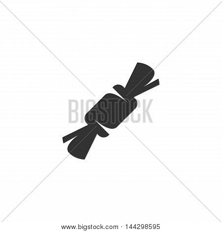 Vector Candy icon isolated on a white background. Candy logo in flat style. Simple icon as element for design. Vector symbol, sign, pictogram, illustration