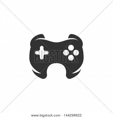 Vector Game icon isolated on a white background. Game logo in flat style. Simple icon as element for design. Vector symbol, sign, pictogram, illustration