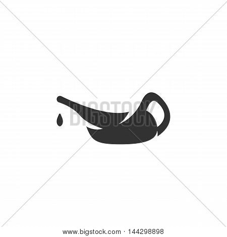 Vector Oil icon isolated on a white background. Oil logo in flat style. Simple icon as element for design. Vector symbol, sign, pictogram, illustration