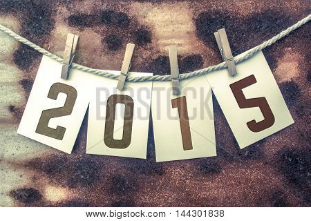 2015 Concept Pinned Stamped Cards On Twine Theme